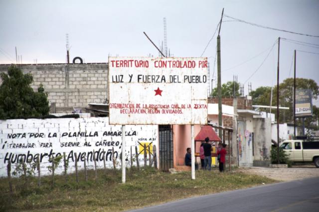 Territory under control of Luz y Fuerza de Pueblo -  Lázaro Cardenás Municipality, Chiapas. January 2017