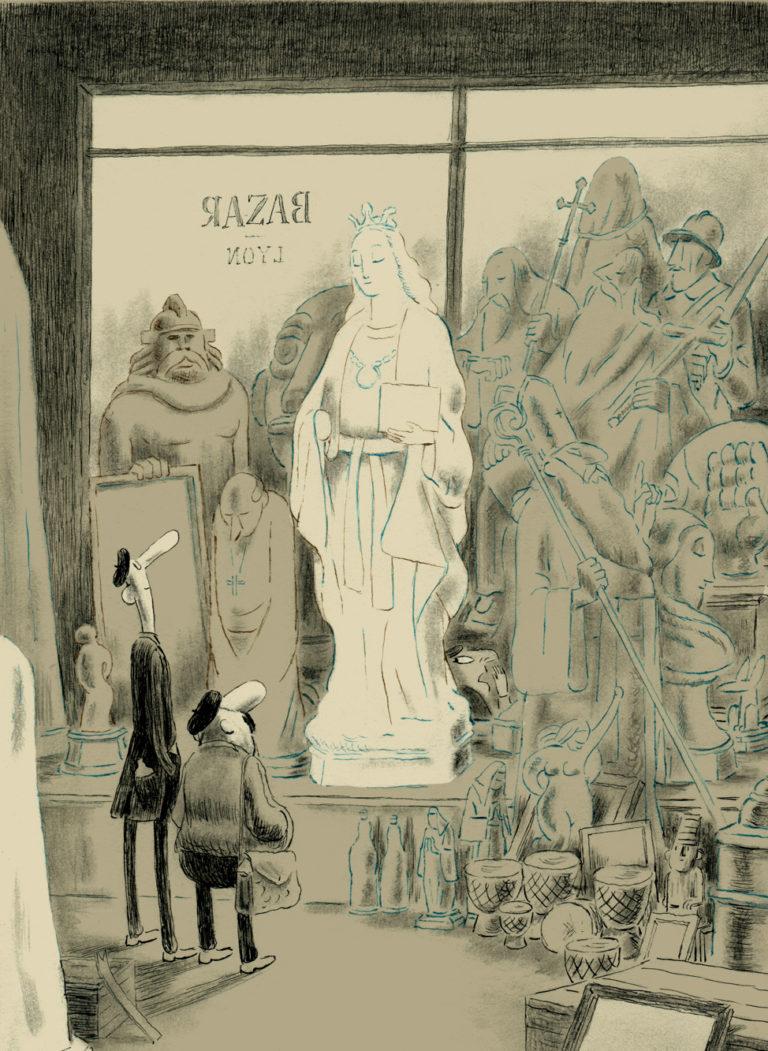 """""""Des statues qui parlent Dieu soit loué ! Vous avez ici l'embarras du choix ! Elles parlent toutes !"""""""